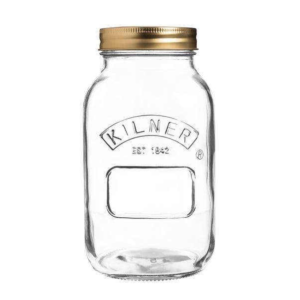 Kilner 1 Litre Preserving Jar Clear