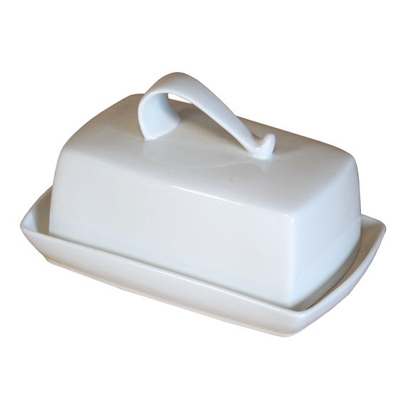 Pausa Butter Dish White