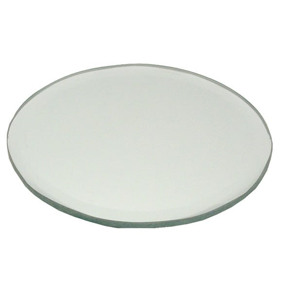 Bevelled Edge Mirror Candle Plate Clear