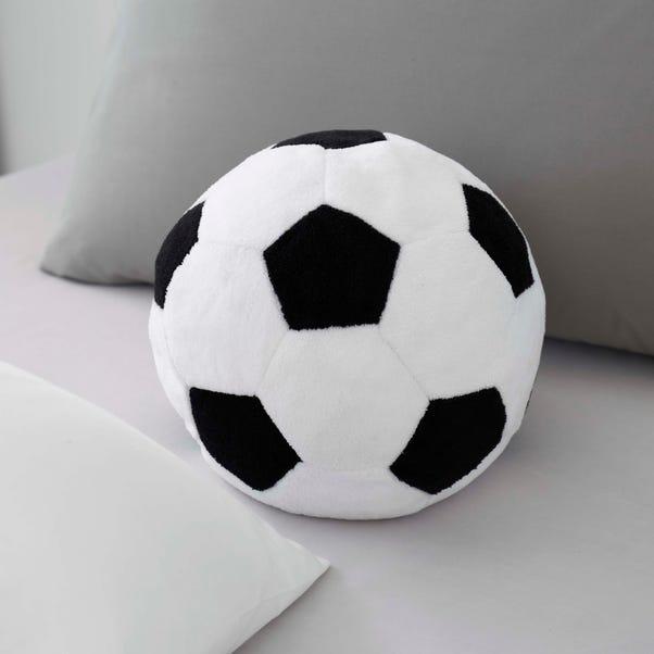 Football Striker 3D Cushion Black and white