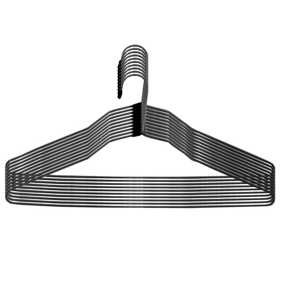 Set of 10 Wire Hangers Black