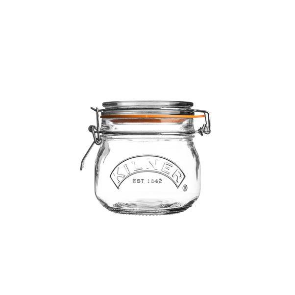 Kilner 0.5 Litres Round Clip Top Jar Clear