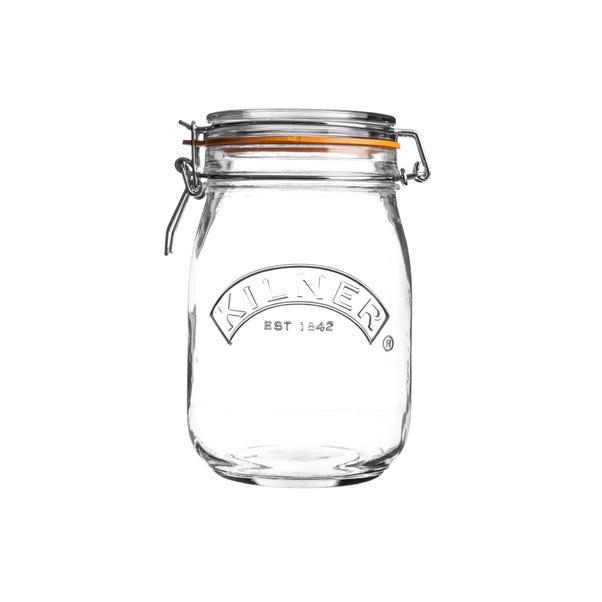 Kilner 1 Litre Round Clip Top Jar Clear