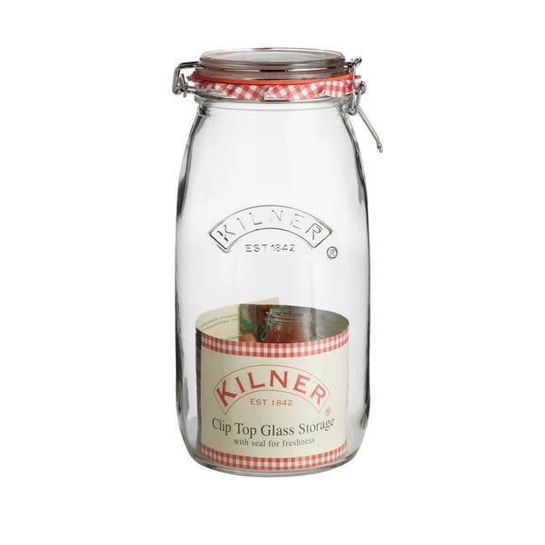 Kilner 1.5 Litres Round Clip Top Jar Clear