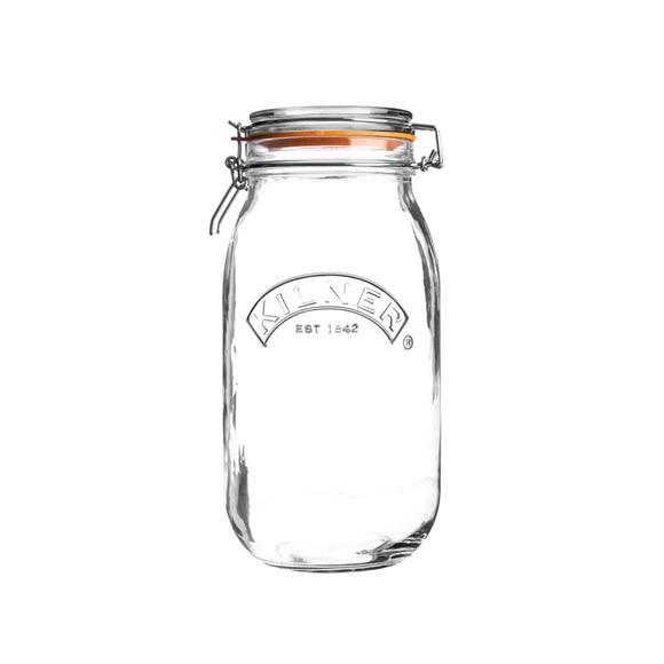 Kilner 2 Litres Round Clip Top Jar Clear