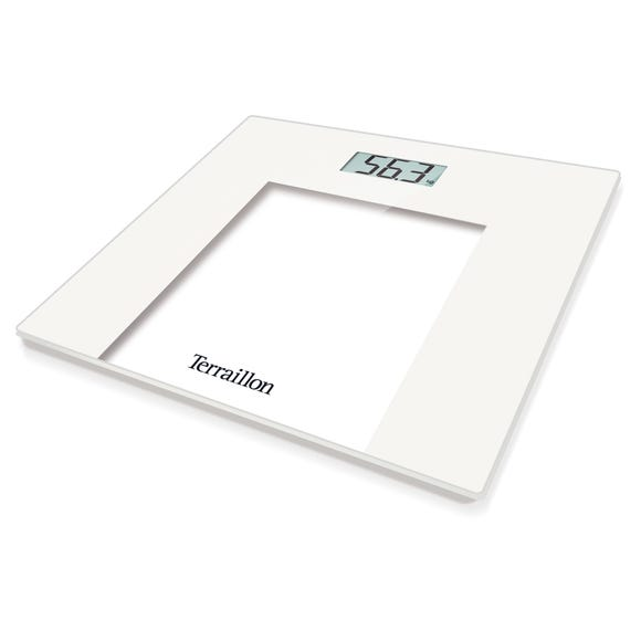 Terraillon TP1000 White Slim Glass Electronic Scales