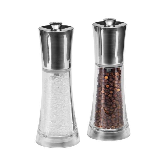 Cole & Mason Everyday Salt and Pepper Mill Gift Set Clear
