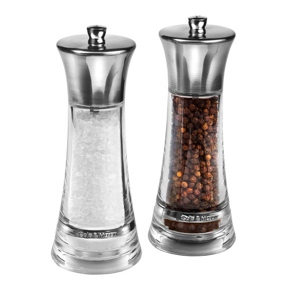 Cole & Mason Monaco Salt and Pepper Mill Gift Set Clear