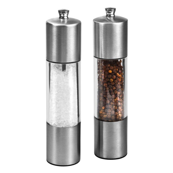 Cole & Mason Monaco Everyday Salt and Pepper Mill Gift Set Clear