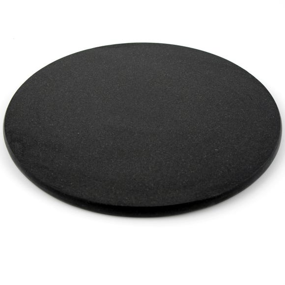 Black Granite Round Work Surface Protector Black