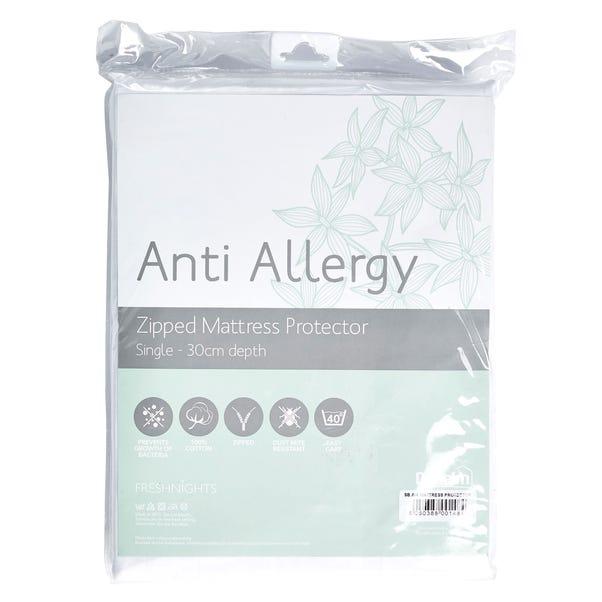 Freshnights Anti Allergy 30cm Zipped Mattress Protector White undefined