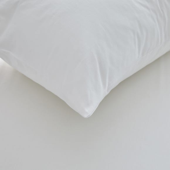 Freshnights Cotton Zipped Pair of Pillow Protectors White