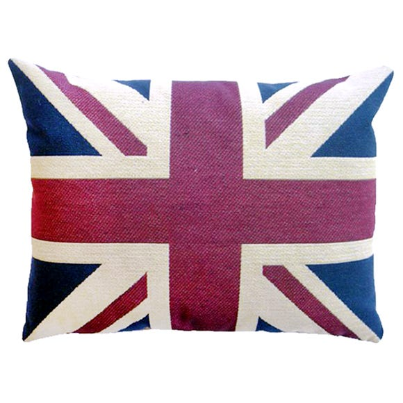 Vintage Union Jack Cushion MultiColoured