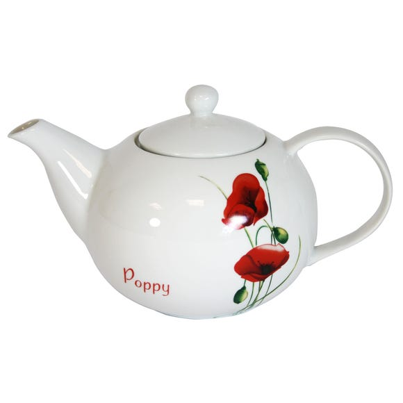 Poppy Teapot White