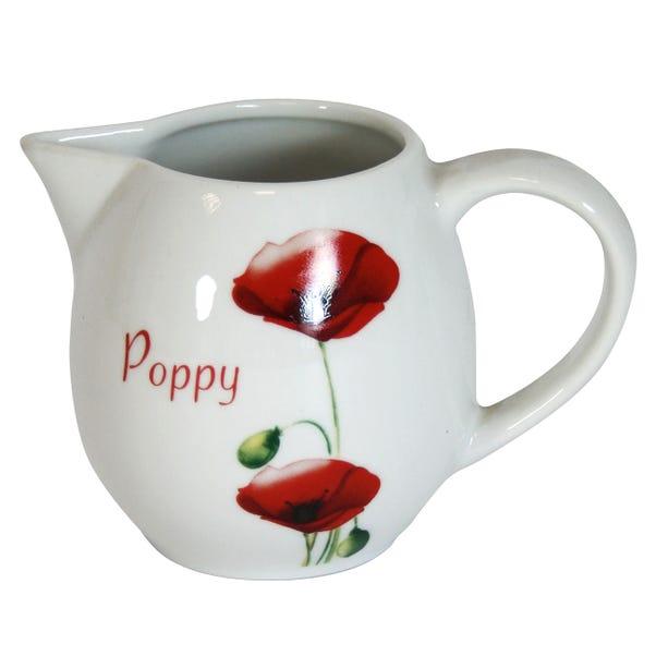 Poppy Creamer Jug White