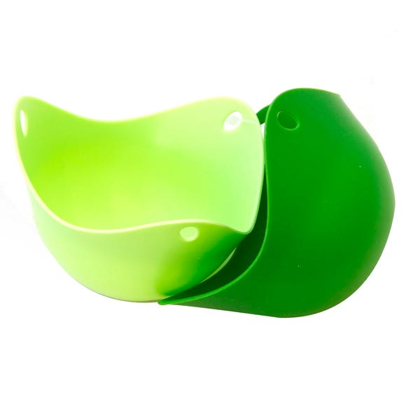 Pack of 2 Silicone Poach Pods Green