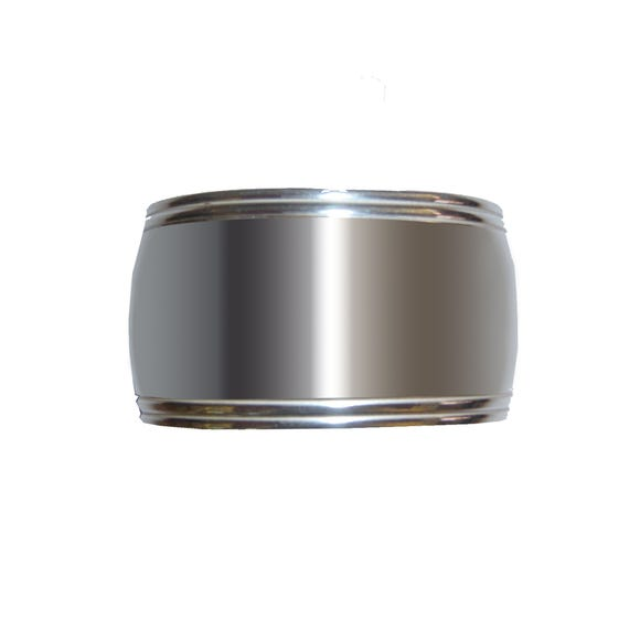 Oval Band Napkin Ring Silver