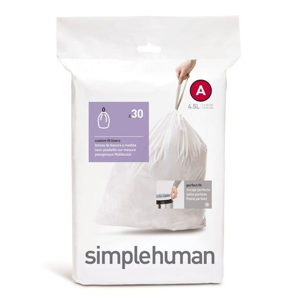 simplehuman A 4.5 Litre Bin Liners White