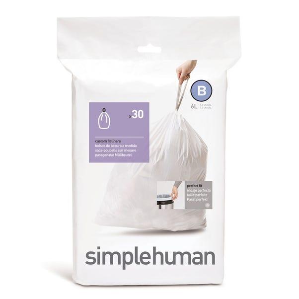 simplehuman B 6 Litre Bin Liners White