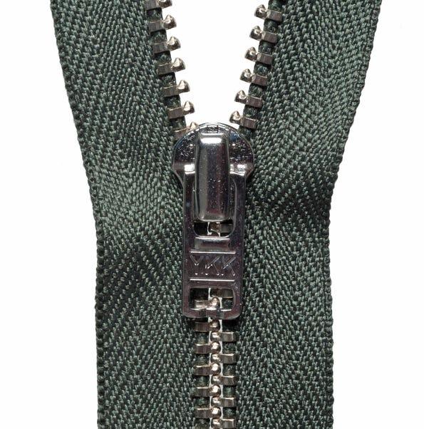 Metal Trouser Zip Khaki (Green) undefined