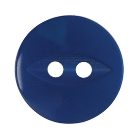 Pack of Eight Royal Blue Buttons