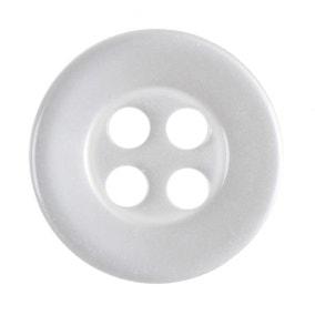 Pack of Thirteen Medium White Buttons
