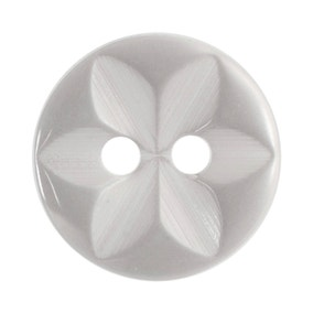 Round Flower Effect Buttons 11.25mm Pack of 14