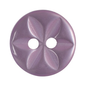 Pack of Fourteen Lilac Buttons