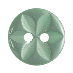 Pack of Fourteen Lime Green Buttons
