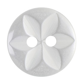 Round Flower Effect Buttons 13.75mm Pack of 8