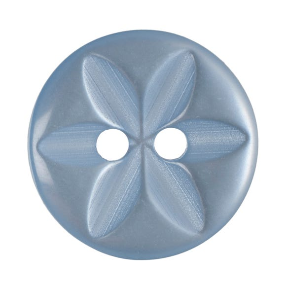 Pack of Six Baby Blue Buttons