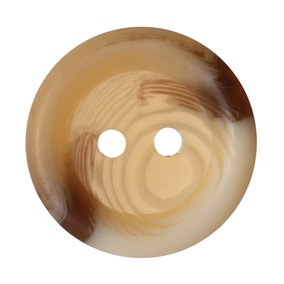 Round Rimmed Cream Marble Buttons 18.75mm Pack of 4
