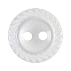 Twisted Edge Round Buttons 11.25mm Pack of 17