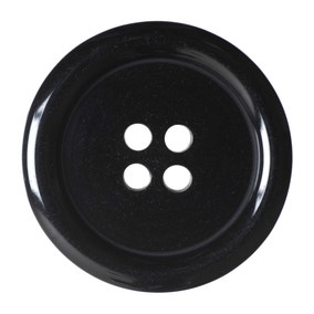 Black Round Rimmed Buttons 27.5mm Pack of 2
