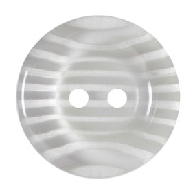 Round Rimmed Striped Buttons 20mm Pack of 3