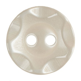 Round Scalloped Rim Buttons 13.75mm Pack of 6