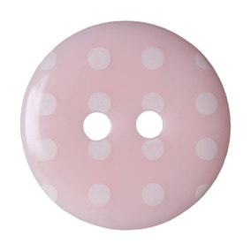 Round Polka Dot Buttons 15mm Pack of 6