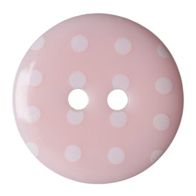 Round Polka Dot Buttons 17.5mm Pack of 4