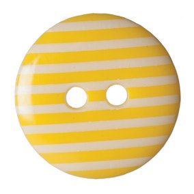 Pack of Six Yellow Buttons