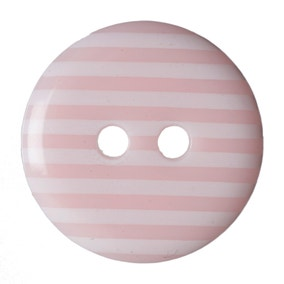 Round Striped Buttons 15mm Pack of 6