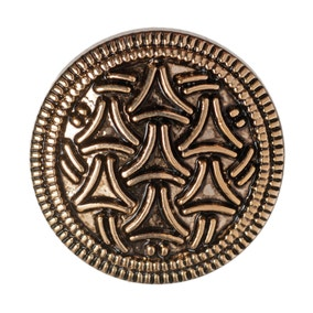 Pack of Five Gold-Look Metal Buttons