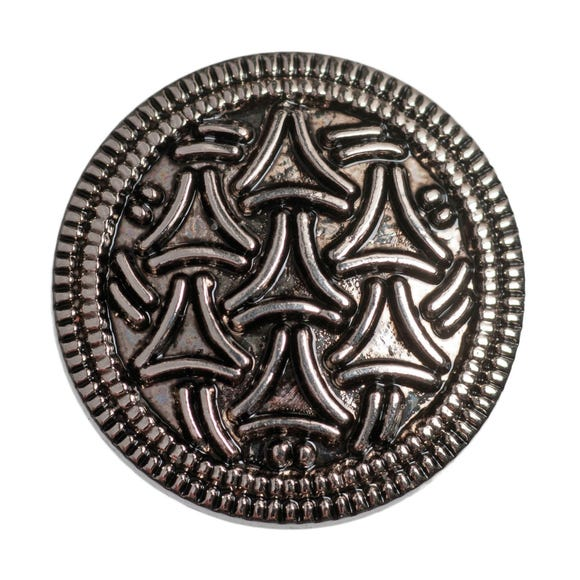 Pack of Five Silver-Look Metal Buttons