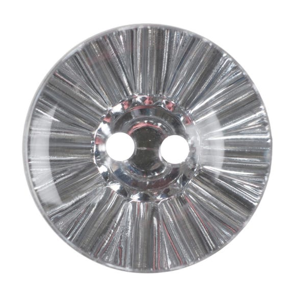 Round Crystal Buttons 12.5mm Pack of 3 Clear undefined