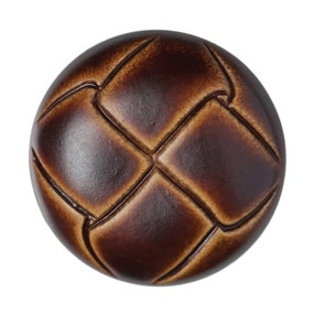 Round Leather Effect Buttons 15mm Pack of 3