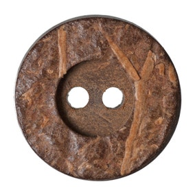 Round Rimmed Coconut Buttons 15mm Pack of 7