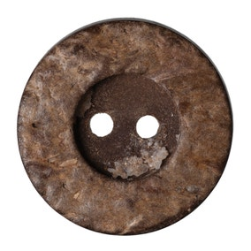 Round Rimmed Coconut Buttons 20mm Pack of 4