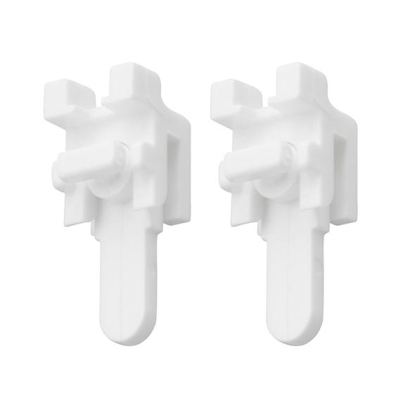 Pack of 2 Swish Sologlyde End Stop White