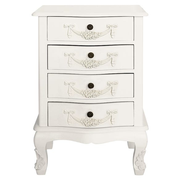 Toulouse Ivory 4 Drawer Chest Ivory