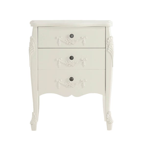 Toulouse Ivory 3 Drawer Chest Ivory