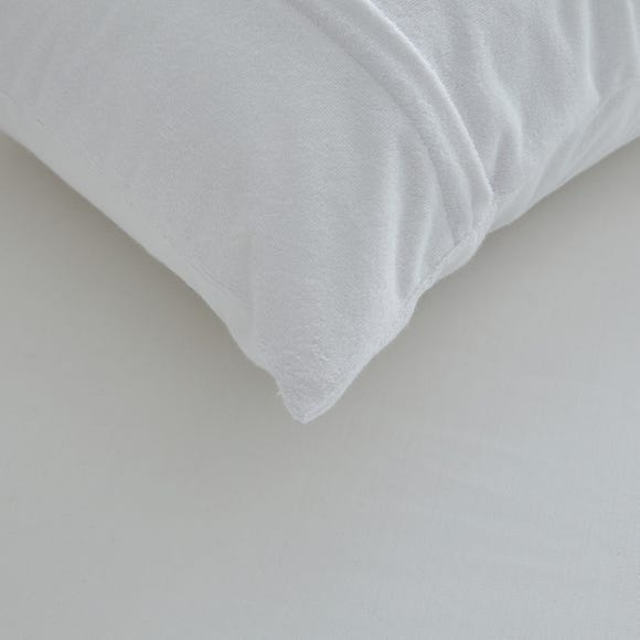 Staydrynights Terry Towelling Pillow Protector White